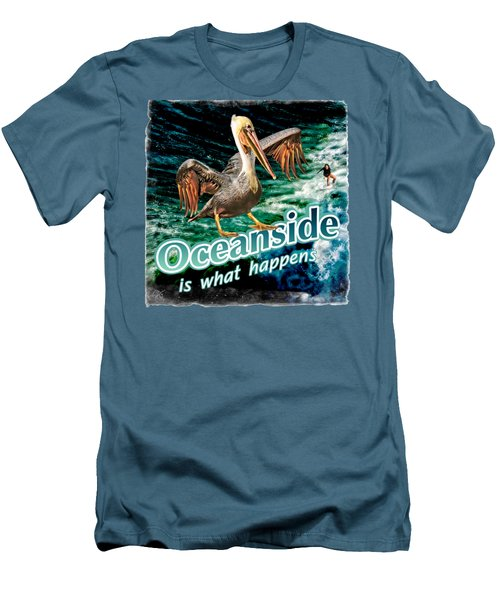 Oceanside Happens Men's T-Shirt (Athletic Fit)