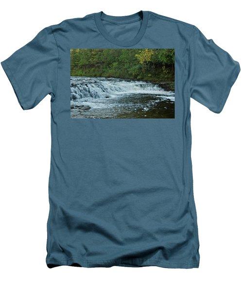 Ocqueoc Falls_9535 Men's T-Shirt (Athletic Fit)