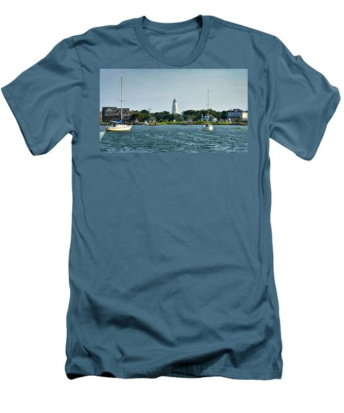 Ocracoke Island Lighthouse From Silver Lake Men's T-Shirt (Athletic Fit)