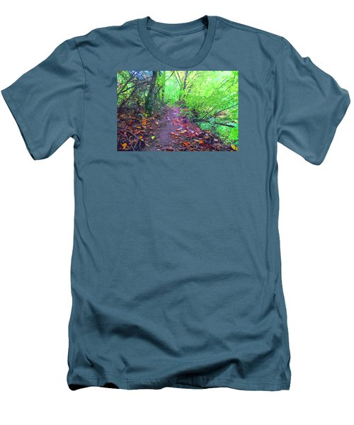 October Forest Pathway Men's T-Shirt (Athletic Fit)