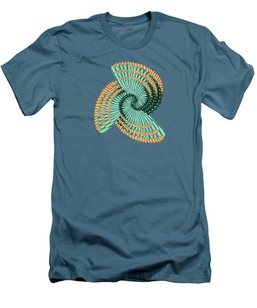 Men's T-Shirt (Slim Fit) featuring the digital art Octopus Shell Abstract by Deborah Smith
