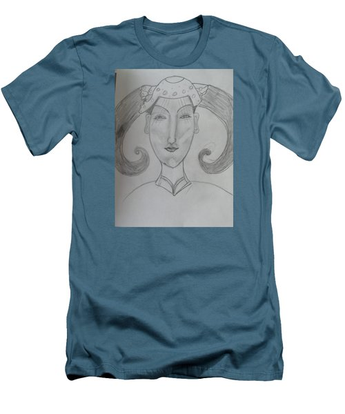 Men's T-Shirt (Slim Fit) featuring the drawing Of The Ming Dynasty by Sharyn Winters