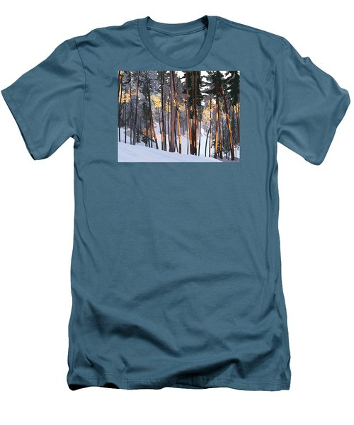 Office View Winter Alpenglow Men's T-Shirt (Athletic Fit)