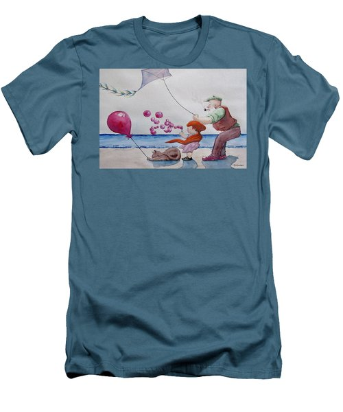 Oh My Bubbles Men's T-Shirt (Slim Fit) by Geni Gorani