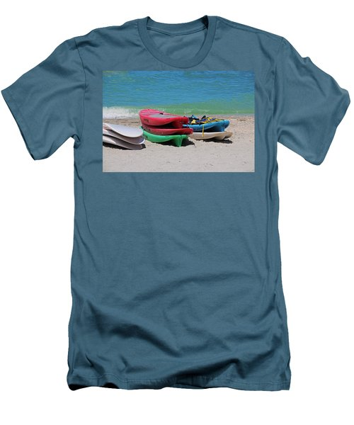 Men's T-Shirt (Athletic Fit) featuring the photograph Oh The Beach Life by Michiale Schneider