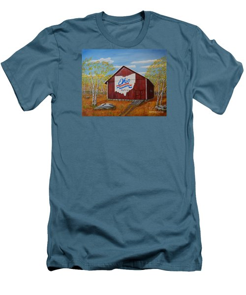 Ohio Bicentennial Barns 22 Men's T-Shirt (Athletic Fit)
