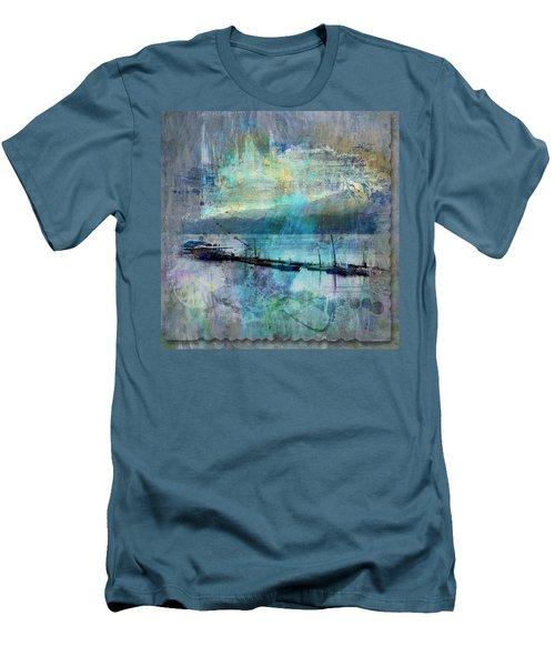 Ohio River Splatter Men's T-Shirt (Slim Fit) by Diana Boyd