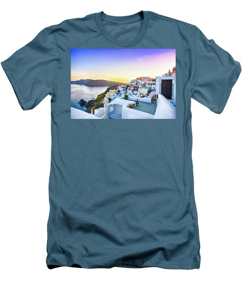 Oia, Santorini - Greece Men's T-Shirt (Slim Fit) by Stavros Argyropoulos