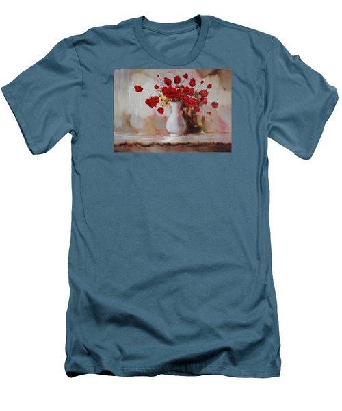 Oil Msc 009 Men's T-Shirt (Slim Fit) by Mario Sergio Calzi