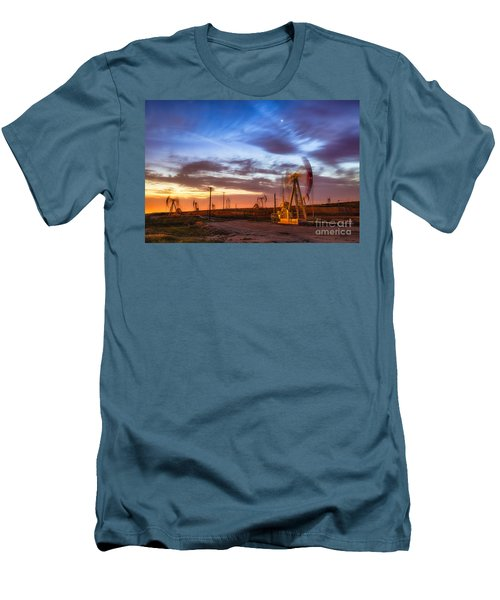 Oil Rigs 3 Men's T-Shirt (Athletic Fit)