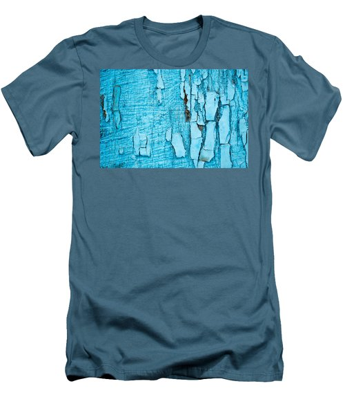 Men's T-Shirt (Slim Fit) featuring the photograph Old Blue Wood by John Williams