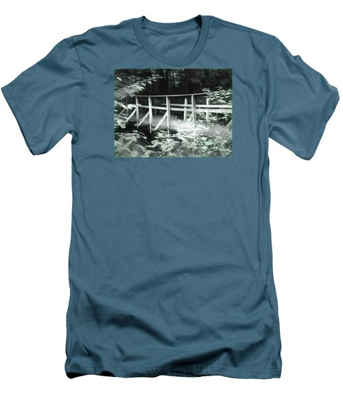 Old Bridge In The Woods Men's T-Shirt (Athletic Fit)