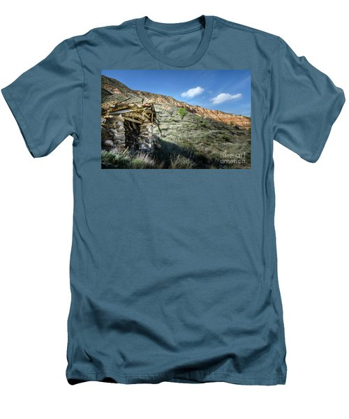 Men's T-Shirt (Slim Fit) featuring the photograph Old Country Hovel by RicardMN Photography
