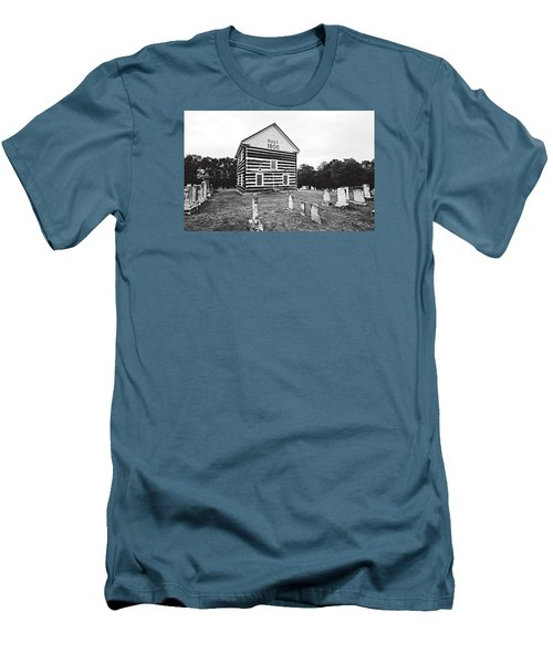 Men's T-Shirt (Slim Fit) featuring the photograph Old Log Church by Trina  Ansel