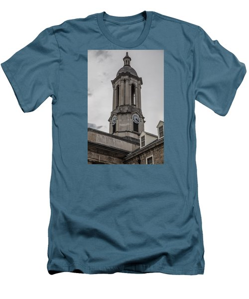 Old Main Penn State Clock  Men's T-Shirt (Slim Fit) by John McGraw