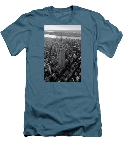 Men's T-Shirt (Slim Fit) featuring the photograph Old New New York  by Anthony Fields