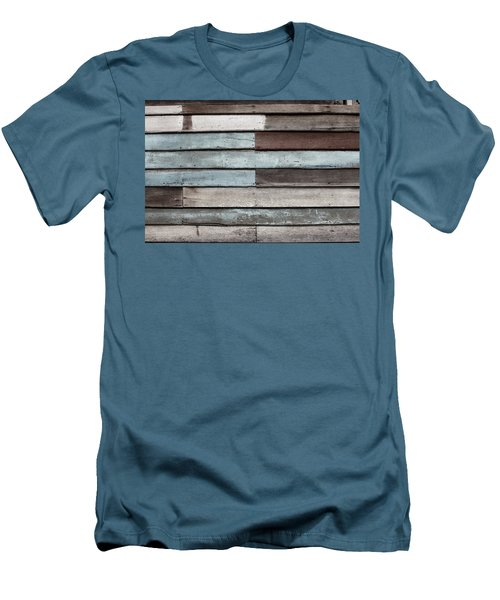 Old Pale Wood Wall Men's T-Shirt (Slim Fit) by Jingjits Photography