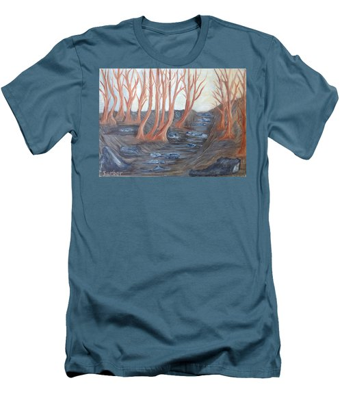 Old Road Through The Trees Men's T-Shirt (Athletic Fit)