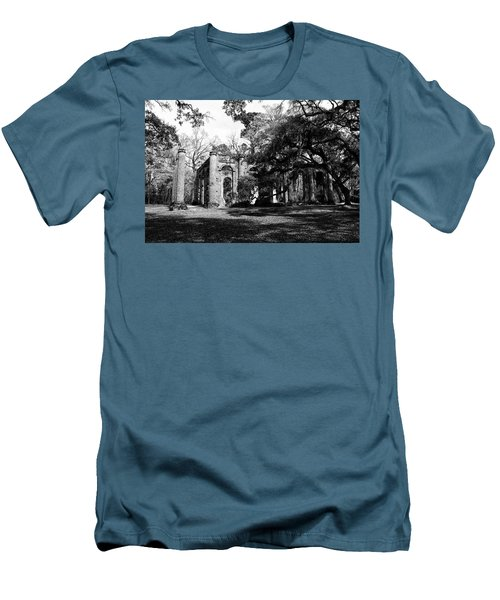 Men's T-Shirt (Slim Fit) featuring the photograph Old Sheldon Church  by Gary Wightman