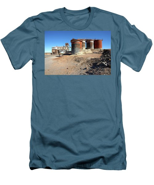 Men's T-Shirt (Slim Fit) featuring the photograph Old Silver Mine Broken Hill by Bill Robinson