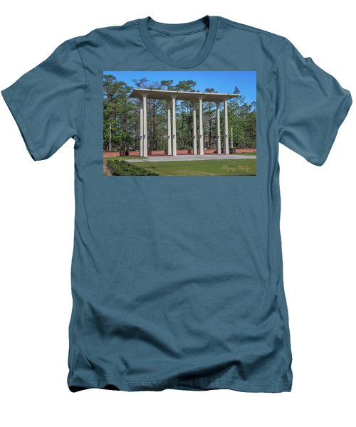 Men's T-Shirt (Slim Fit) featuring the photograph Old Student Union Arches by Gregory Daley  PPSA