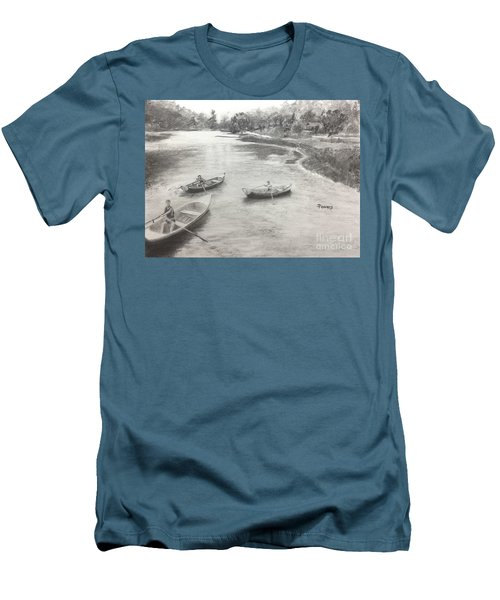 Old Time Camp Days Men's T-Shirt (Slim Fit) by Mary Lynne Powers