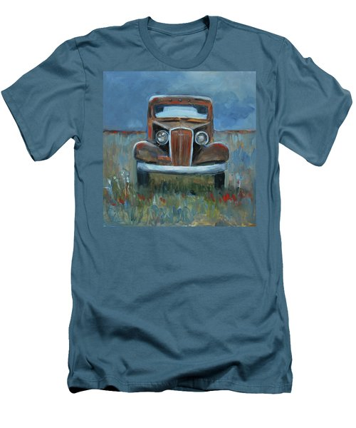 Men's T-Shirt (Slim Fit) featuring the painting Old Timer by Billie Colson