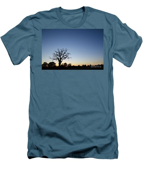 Old Tree Silhouette Men's T-Shirt (Slim Fit) by Kennerth and Birgitta Kullman