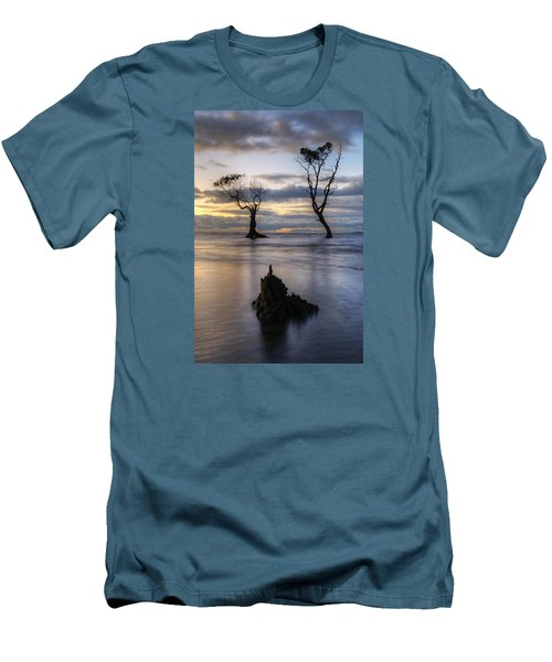 Old Trees Men's T-Shirt (Slim Fit) by Robert Charity