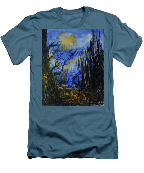 Men's T-Shirt (Slim Fit) featuring the painting Old Ways by Christophe Ennis