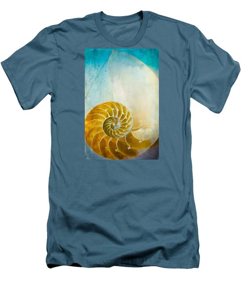 Old World Treasures - Nautilus Men's T-Shirt (Slim Fit) by Colleen Kammerer