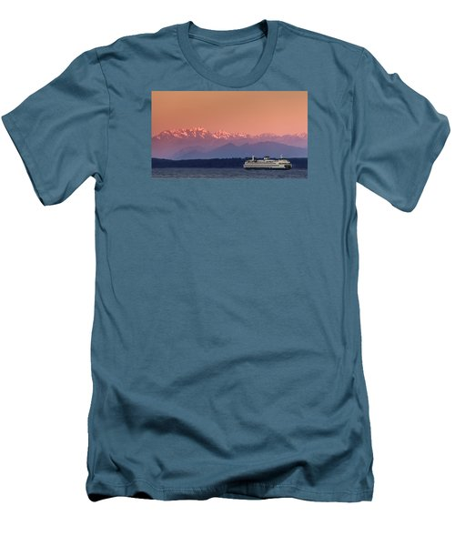 Men's T-Shirt (Slim Fit) featuring the photograph Olympic Journey by Dan Mihai