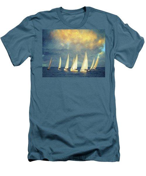 On A Day Like Today  Men's T-Shirt (Slim Fit) by Taylan Apukovska
