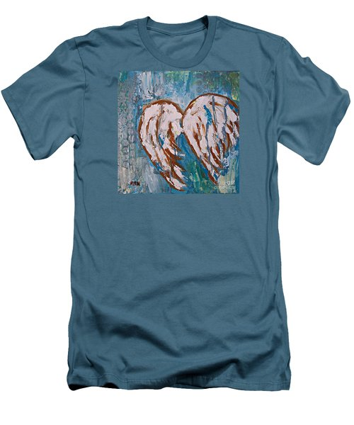 On Angel Wings Men's T-Shirt (Athletic Fit)