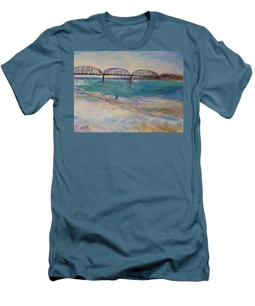 On The Bank Men's T-Shirt (Slim Fit) by Helen Campbell