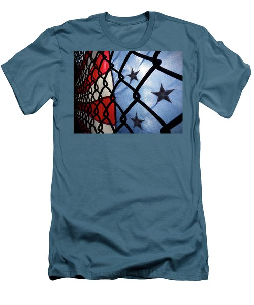 Men's T-Shirt (Slim Fit) featuring the photograph On The Fence by Robert Geary
