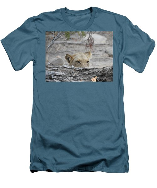 Men's T-Shirt (Slim Fit) featuring the photograph On The Lookout by Betty-Anne McDonald