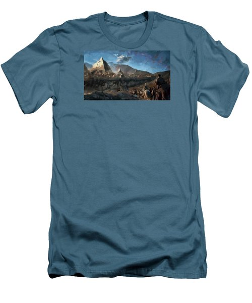 Men's T-Shirt (Slim Fit) featuring the painting On The Road To Meereen by Mario Carini