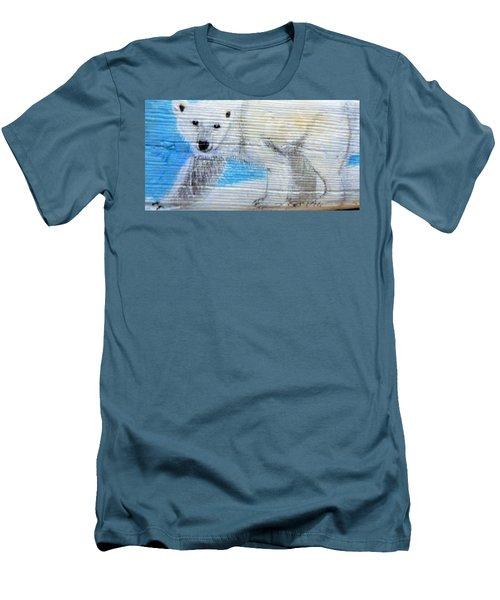 On Thin Ice Men's T-Shirt (Slim Fit) by Ann Michelle Swadener