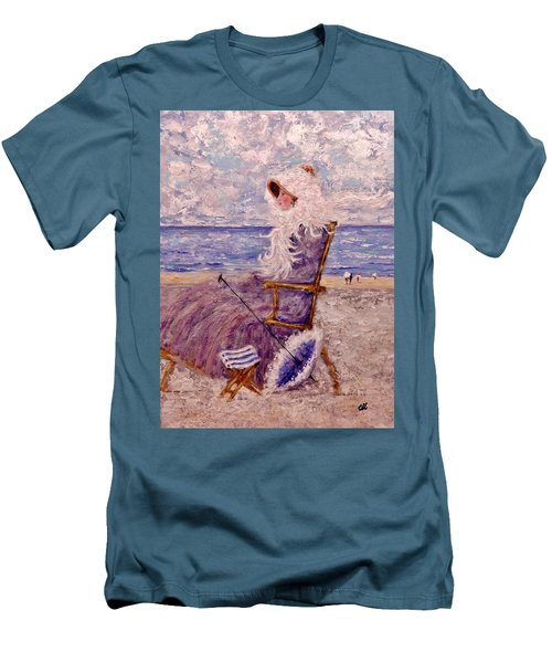 Men's T-Shirt (Slim Fit) featuring the painting Once Upon A Time II by Cristina Mihailescu