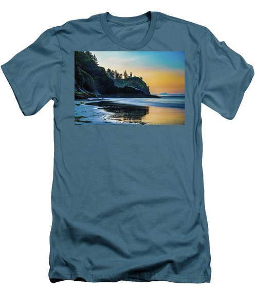 One Morning At The Beach Men's T-Shirt (Slim Fit) by Ken Stanback