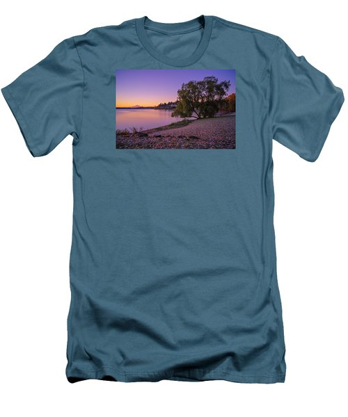 One Morning At The Lake Men's T-Shirt (Slim Fit) by Ken Stanback