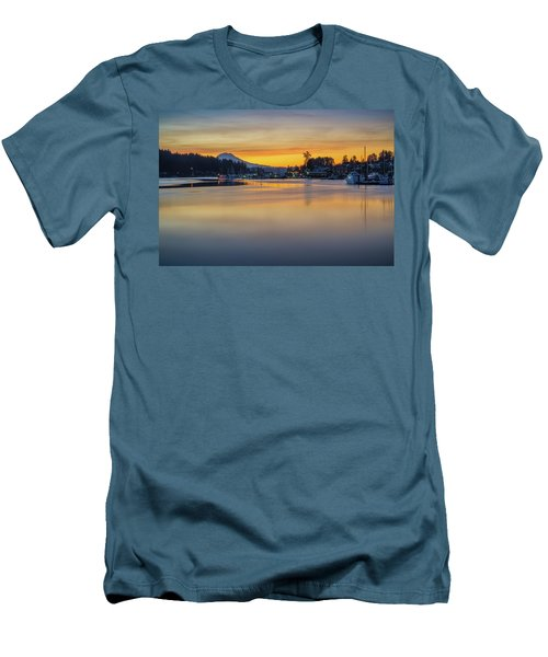 One Morning In Gig Harbor Men's T-Shirt (Slim Fit) by Ken Stanback