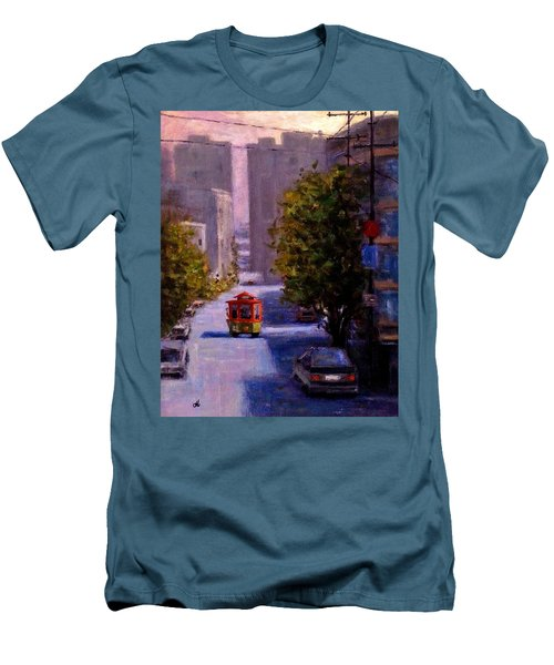 One Quiet Afternoon In San Francisco.. Men's T-Shirt (Slim Fit) by Cristina Mihailescu