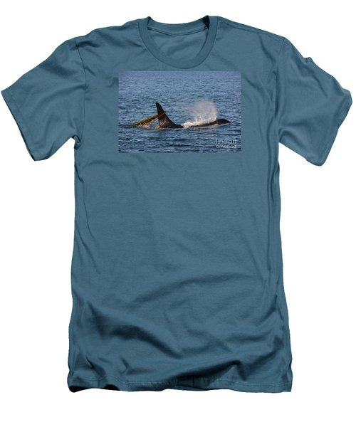 Men's T-Shirt (Slim Fit) featuring the photograph Onyx L87 by Gayle Swigart