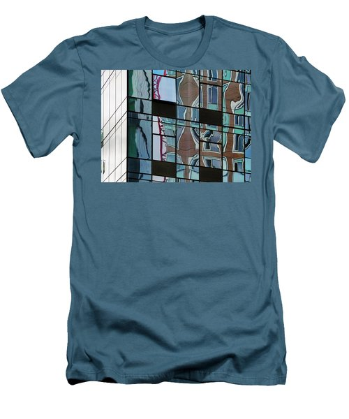 Men's T-Shirt (Slim Fit) featuring the photograph Op Art Windows I by Marianne Campolongo