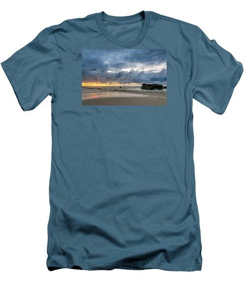 Orange And Blue Men's T-Shirt (Athletic Fit)