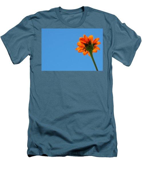 Orange Flower On Blue Sky Men's T-Shirt (Athletic Fit)