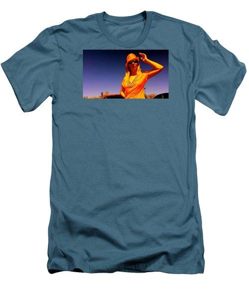Orange Friday Men's T-Shirt (Slim Fit) by Yelena Tylkina