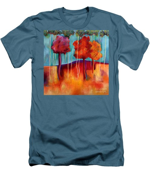Orange Trees Men's T-Shirt (Athletic Fit)